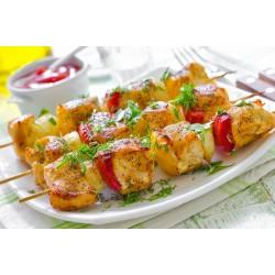 Brochettes de porc marinade indienne