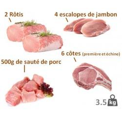 Lot de porc dégustation