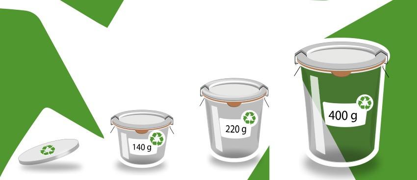 Bocaux en verre recyclé